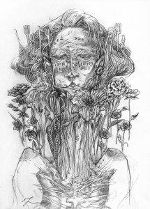 """""""Ancestors"""" drawing by Gossamer Rozen"""