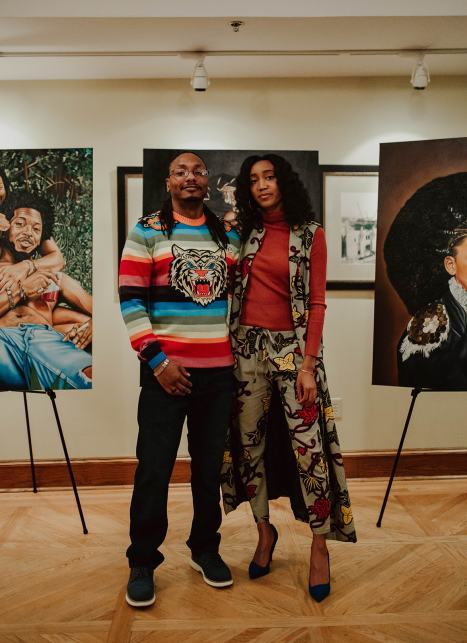 Artist Travis Prince and Black Scranton Project Creator Glynis Johns