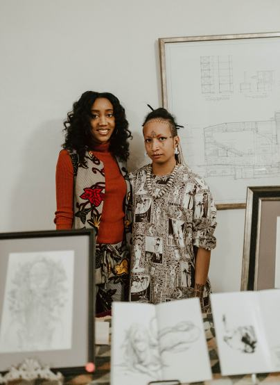 Artist Gossamer Rozen and Black Scranton Project Glynis Johns