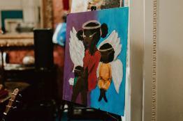 Painting by Student Artist Nala Johnson